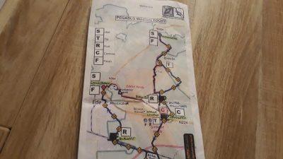 21. Pegasus Wandeltocht routekaart